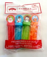 179946540212 4 BUBBLE WANDS CHRISTMAS EACH PACK R26