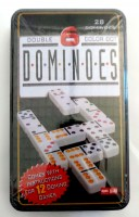 31411424 DOMINOES DOUBLE 6 COLOR DOT IRON TIN EAC R108