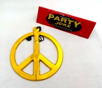 31814492 PARTY NECKLACE PEACE SIGN GIANT D18CM EA R18