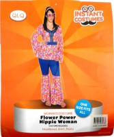 31814898 COSTUMES INSTANT FLOWER POWER HIPPIE WOM R320