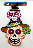 31818667 DAY OF DEAD PAPER DECO HANGIN L45CM EACH R465