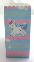 31819206 POPCORN BOX UNICORN 9X9X14CM 10PC PK PK R385