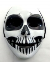 31917728 MASK PLASTIC WITH HOOD (WHITE+BLACK) EAC R30