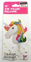 31917766 14 AIR-FILL BALLOON UNICORN ON STICK EA R12