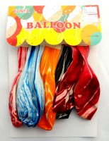 31917797 BALLOON LATEX MARBLE 12 6PCS PACK R304