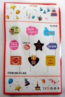 37207656 PHOTO BOOTH BIRTHDAY SHOWER 10PCS PACK R40