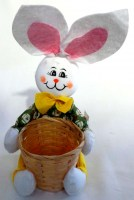 37403966 EASTER BUNNY WITH BASKET D9X8CM EACH R58