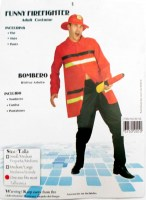 37502010 COSTUME ADULT FUNNY FIREFIGHTER 83135 EA R399