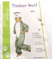 37504748 COSTUME CHILDREN TIMBER WOLF HY1379-9 EA R258