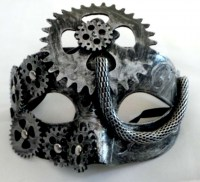 37602758 MASK STEAMPUNK CHAIN 15X10CM R40