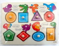 37703370 WOODEN PUZZLE ANIMALS BUTTONS EACH R56