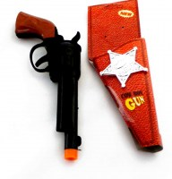 38856822 (2) COW BOY GUN+SHERIFF BADGE 5682 EACH R203