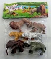 38901621 JUNGLE ANIMAL (WILD ANIMALS) 6PC PK Y162 R90