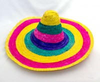 41800973 HAT MAXICAN COLOURFUL 53X55CM EACH R72
