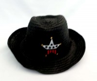 47801233 HAT BLACK WITH RED AND SILVER STAR EACH R42