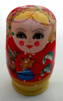 51905613 ORNAMENT RUSSIAN DOLL 5IN1 EACH SET R78