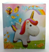 51908645 MONEY BANK UNICORN COFRE DE RESINA 19X15 R108