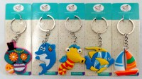 57101644 KEYRING RUBBER SEA THEME FISH+BOAT MIX E R11