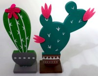 57402390 WOODEN TABLE DECO CACTUS 13CM EACH R28