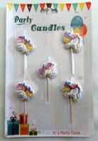 57501345 PARTY CANDLES UNICORNS 5PC CARD EA.CARD R26