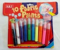 61907270 10 FABRIC PAINTS FP-1010EACH CARD R44