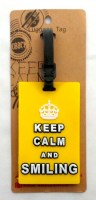 61912038 LUGGAGE TAG KEEP CALM AND SMILING EACH R227