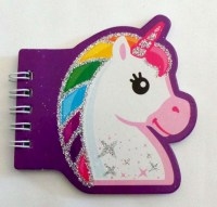 67101436 MEMO PAD UNICORN GLITTRISH 40PGS EACH R10