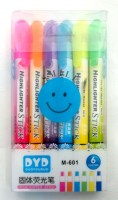 67201143 HIGHLIGHTER STICK M-601 6PCS PACK EA.PAC R60