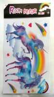 67608775 (2) ROOM DECOR STICKER UNICORN 5D EACH R34