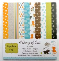 67608829 PAPER PACK 6X6 20SHEETS PACK EA.PACK R44