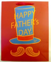 67609932 (4) GIFT BAG FATHER;S DAY 33X26X10CM EACH R20