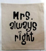 81901166 CUSHION COVER HESSIAN EACH R39