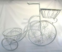 91805225 FLOWER STAND BICYCLE IRON (2POTS) 50X60C R489
